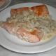 Salmón con champignones
